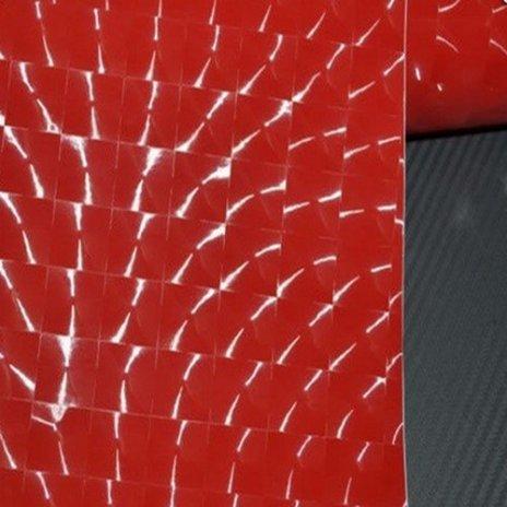 4D fólia s AIR FREE (mačacie oko) červená (š.1,52m)