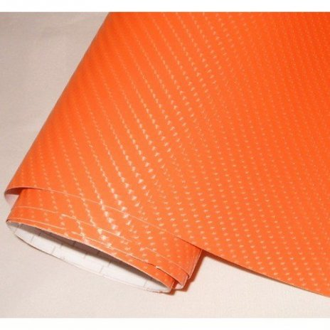 4D karbónová folia S AIR FREE oranžová (š.1,52m)