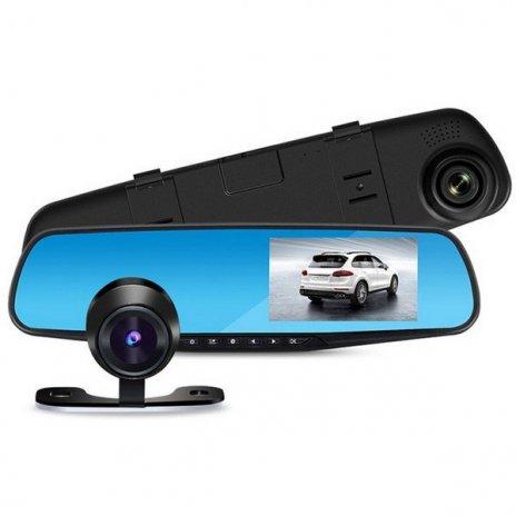 FULL HD kamera v spätnom zrkadle s LCD displejom + zadná kamera