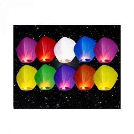 Lampion štěstí MIX barev 10 ks