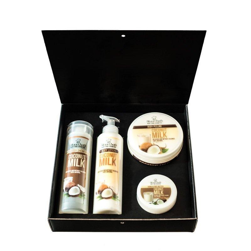 Zestaw naturalnych kosmetyków o zapachu mleka kokosowego 850 ml