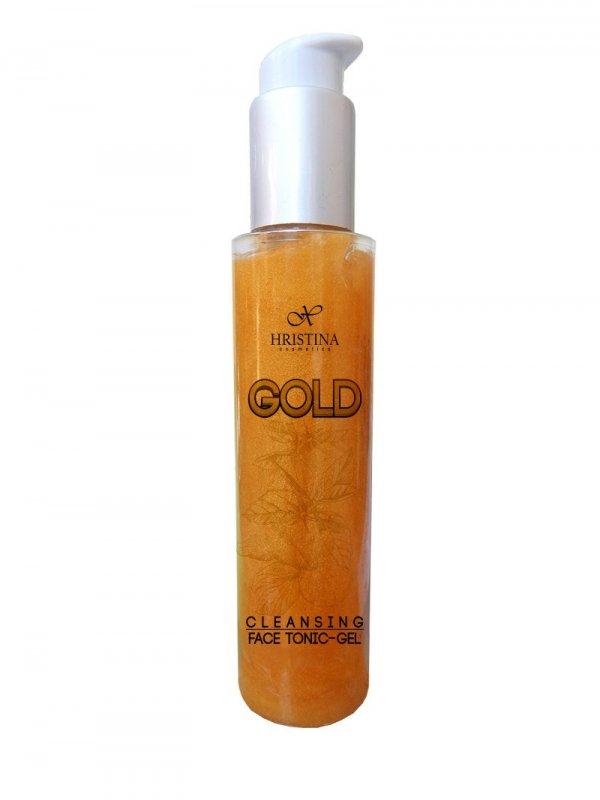 Přírodní obličejové gel tonikum se zlatem 125 ml