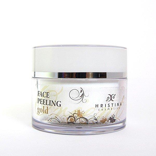 Přírodní obličejový peeling zlato 100 ml