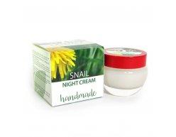 Natürliche handgemachte Nachtcreme mit Schneckenextrakt 50 ml