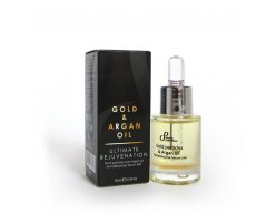 Natürliches revitalisierendes 24-Stunden-Öl Augenserum Goldpartikel und Arganöl 15 ml
