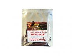 Prírodný ručne vyrobený nočný krém s kaviárom, kolagénom a elastínom 5 ml