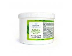 Prírodný anticelulitídny spevňujúci krém s kofeínom a výťažkom z ananásu 500 ml