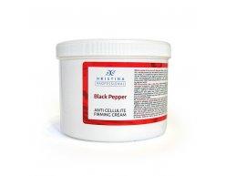 Natürliche Anti-Cellulite und Festigungscreme mit schwarzem Pfeffer 500ml