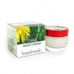 Prírodný ručne vyrobený nočný krém s extraktom zo slimákov 50 ml