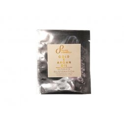 Přírodní revitalizující krém na obličej 24h zlaté částice a arganový olej 5 ml