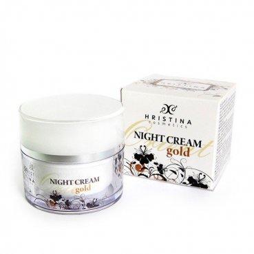 Prírodný nočný krém zlato 50 ml