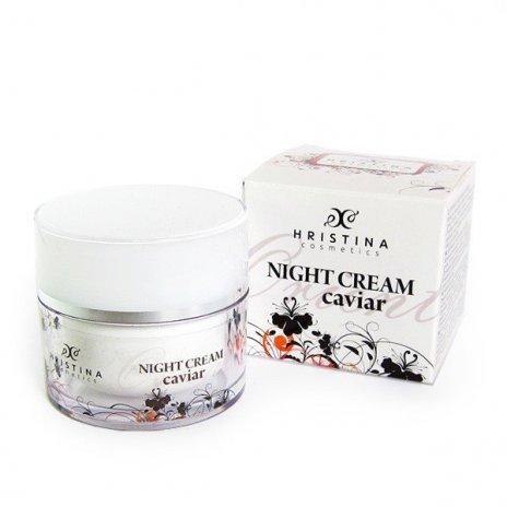 Prírodný spevňujúci nočný krém s kaviárom 50 ml