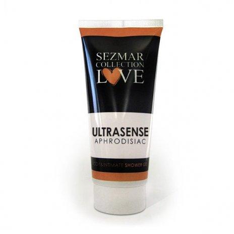 Přírodní intimní sprchový gel s afrodiziaky ultrasense 200 ml