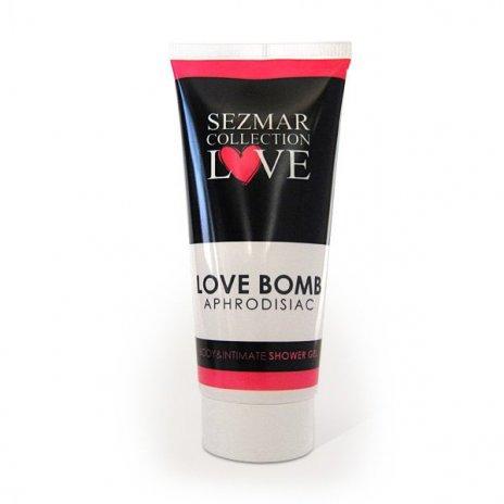 Prírodný intímny sprchový gél s afrodiziakami love bomb 200 ml