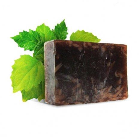 Natürliche handgemachte Seife mit Patschuli und Bernstein 100 g
