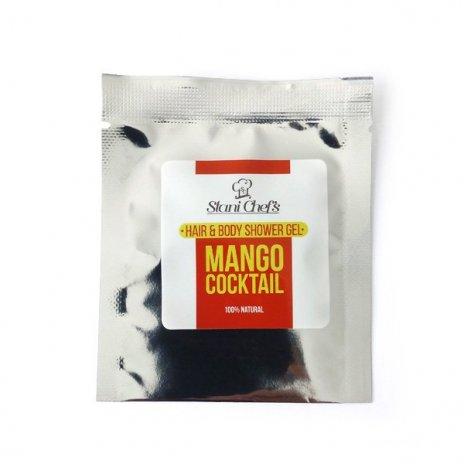 Natürliches Duschgel für Haut und Haar Mango-Cocktail 5 ml