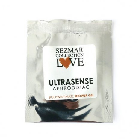 Prírodný intímny sprchový gél s afrodiziakami ultrasense 5 ml