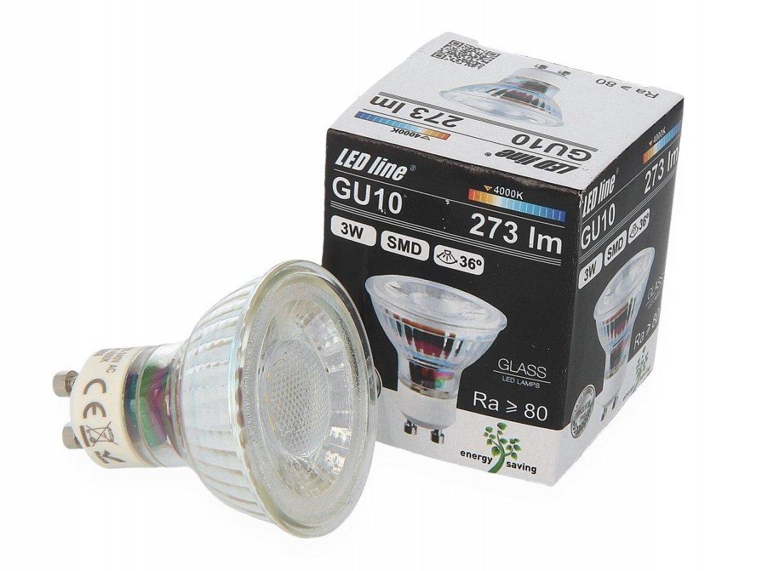 Led Line AKCE: 9 + 1 Led žárovka GU10 3W 273lm denní (25W)