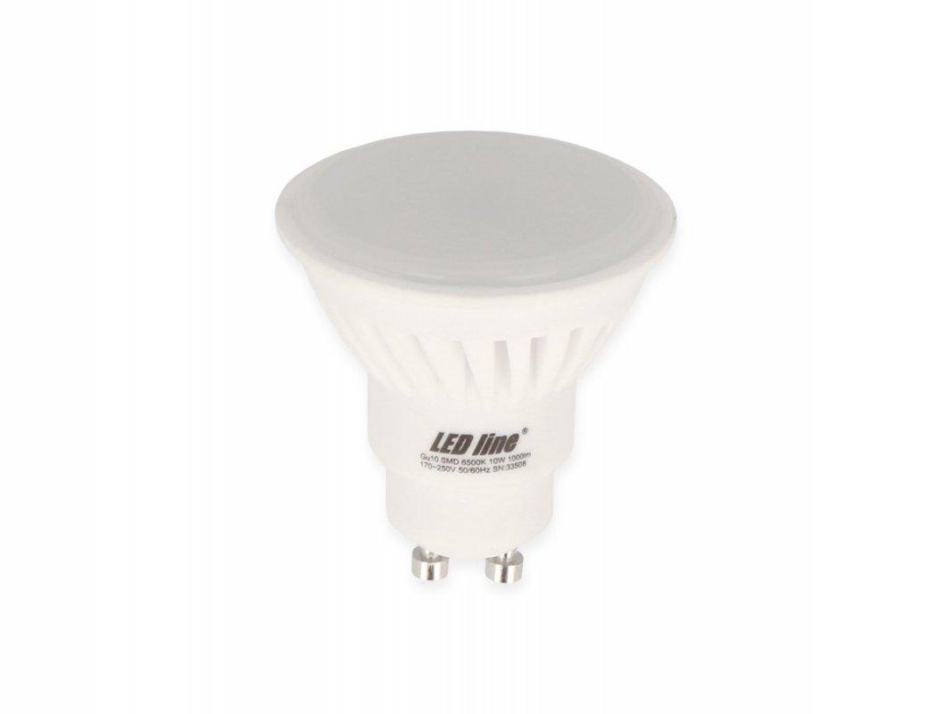 Led Line AKCE: 9 + 1 Led žárovka GU10 10W 1000lm studená (90W)