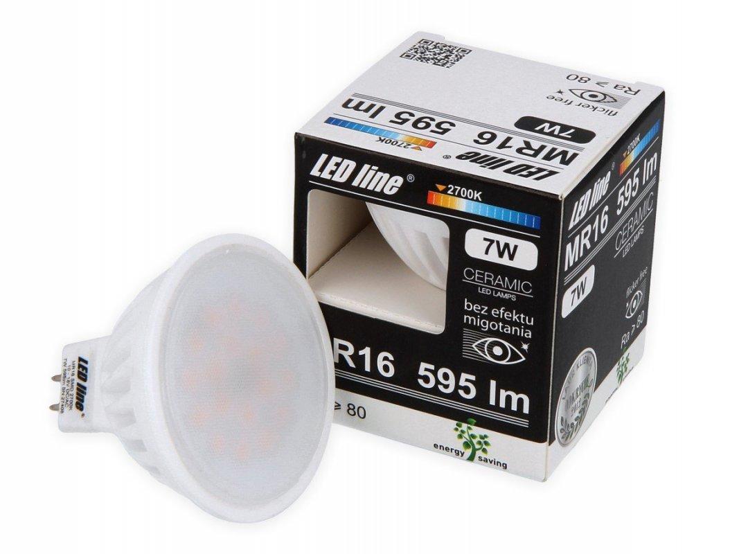 Led Line LED žárovka MR16 7W 595lm 12V teplá 50W