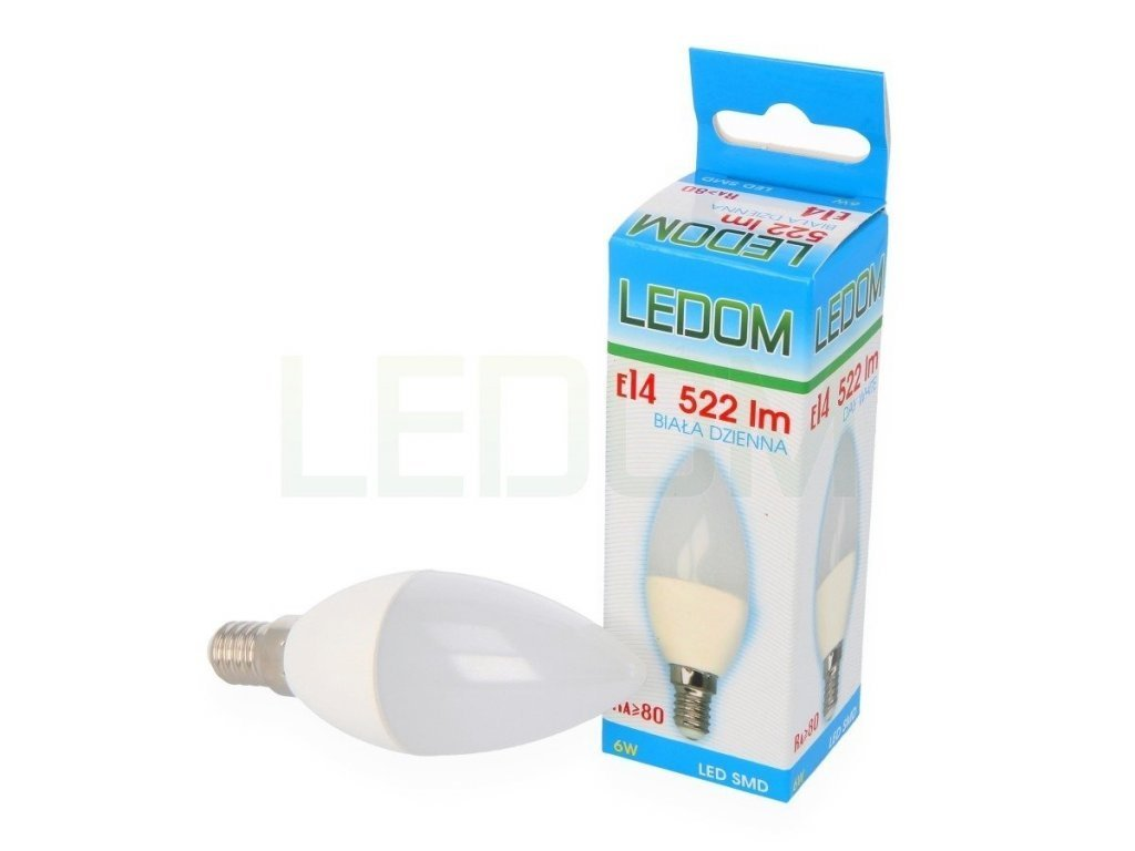 Ledom AKCE: 9 + 1 LED svíčka E14 6W 522lm neutrální (50W)
