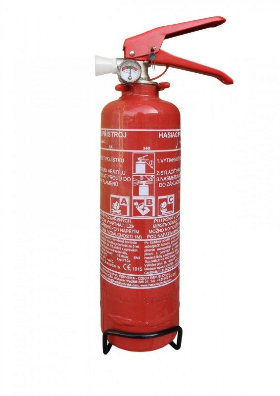 Práškový hasicí přístroj do auta 1 kg P1 ČE