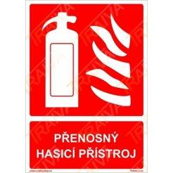 Přenosný hasicí přístroj I Plastová cedule, 210x148mm