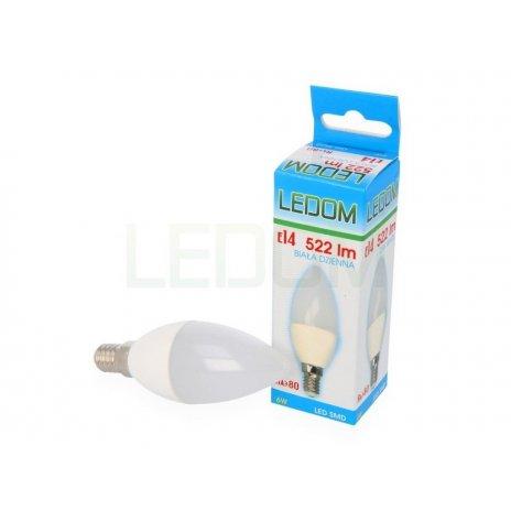 Ledom AKCE: 26 + 4 LED svíčka E14 6W 522lm neutrální (50W)