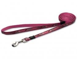 Vodítko Fancy Dress Pink Bone 1,1x180cm