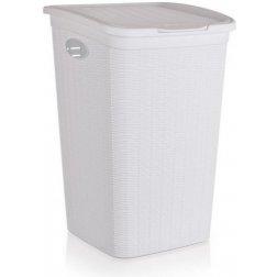 Koš na špinavé prádlo 50 L Ratan bílý