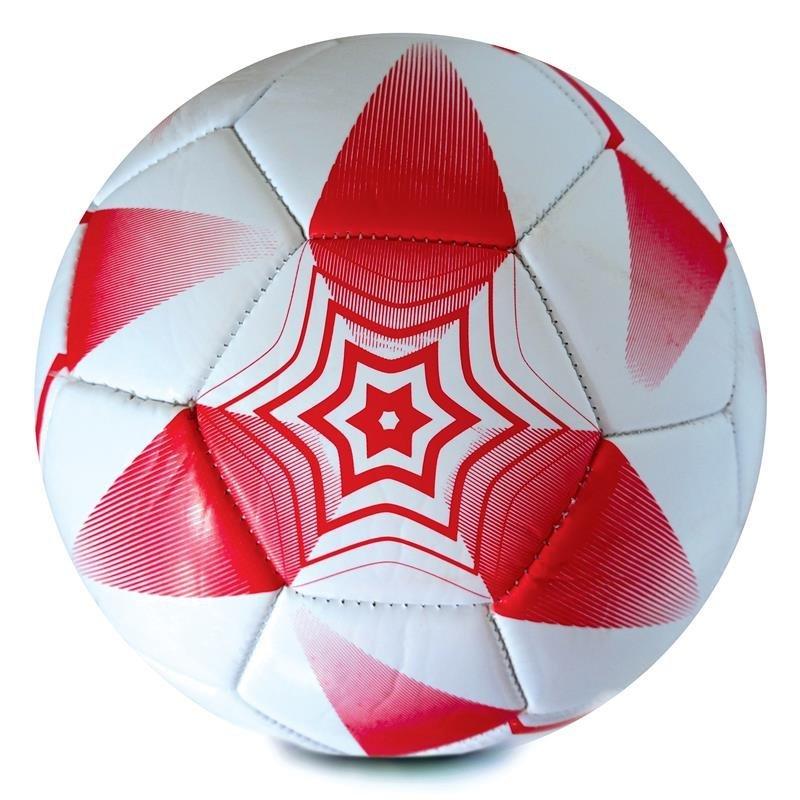 E2018 mini futbalová lopta červeno-biela vel. 2