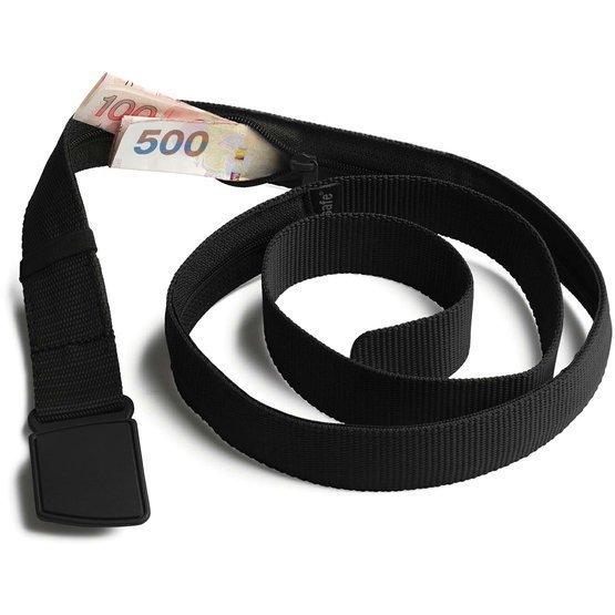 pásek CASHSAFE WALLET BELT black