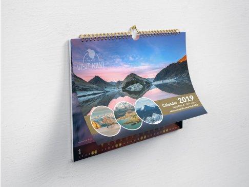 Kalendář Nový Zéland 2020 - 2ks vánoční dárkové balení