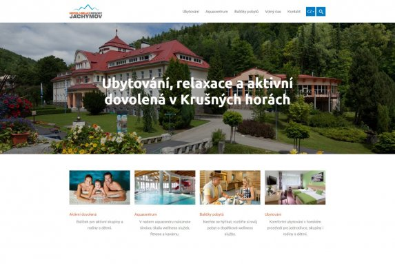 Webové stránky - ubytování - ResortJachymov.cz