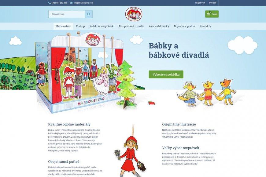 E-shop pro Slovensko - Marionetino.sk
