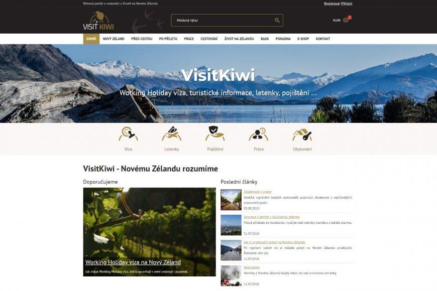 Webové stránky - VisitKiwi.cz