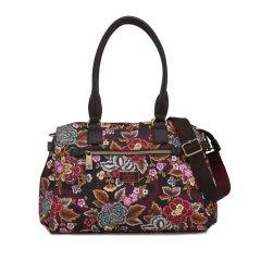 LiLiÓ Winter Poppy M Carry All květovaná kabelka 36 cm Pecan