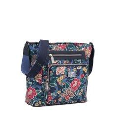 LiLiÓ Winter Poppy M Shoulder Bag květovaná kabelka 29 cm True Blue