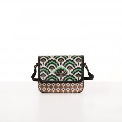 LiLiÓ Clover Mix XS Flap Shoulder Bag luxusní kabelka 18 cm Emerald