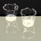Zubatá sklenice