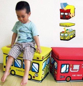 Skládací úložný box a sedačka pro děti