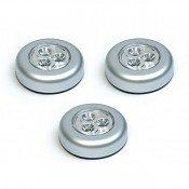 Samolepící lampička 3 LED stříbrná