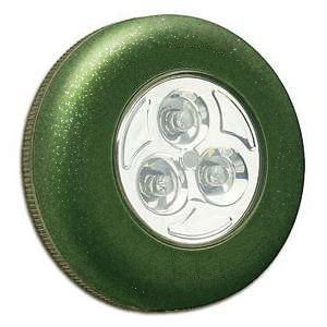 Samolepící lampička 3 LED zelená