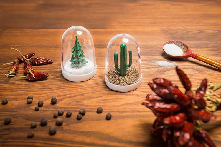 Slánka a pepřenka Vánoční strom a kaktus