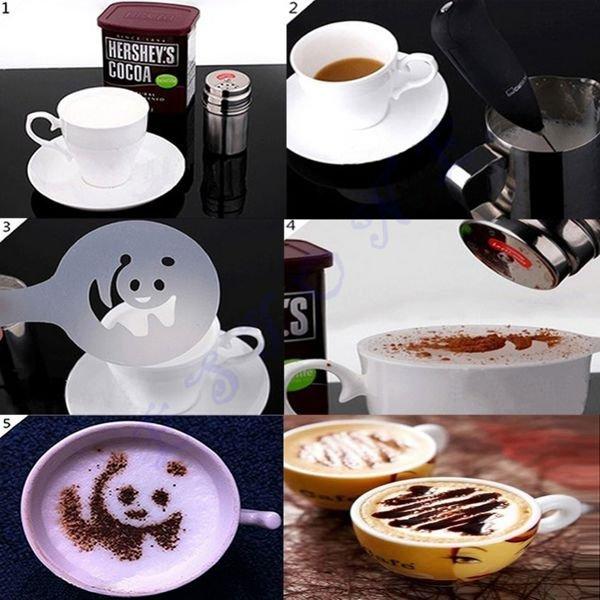 Šablony na kávu 16 ks/sada
