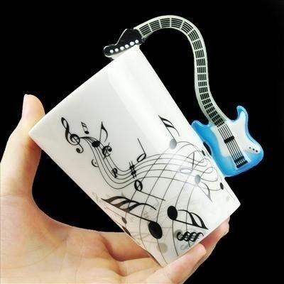 Kytarový hrnek - modrý