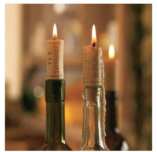 Svíčky vínové zátky 4ks