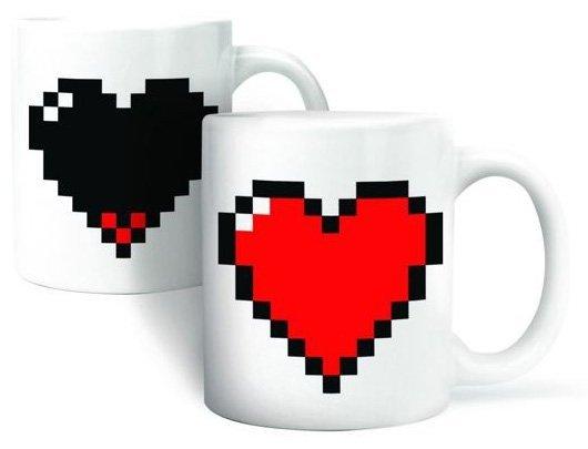 Pixelový hrnek srdce