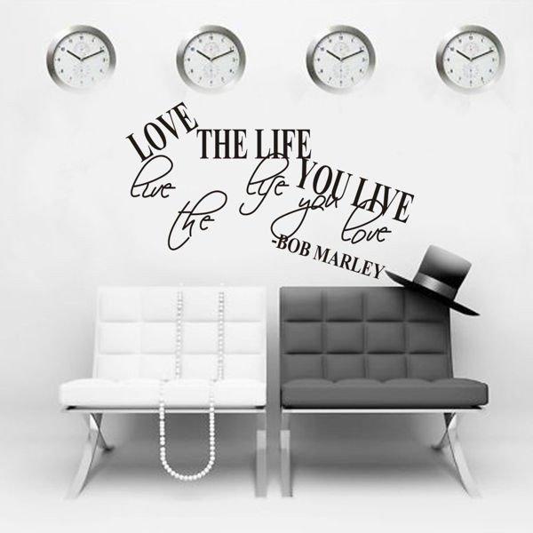 Dekorativní nálepka na zeď - BOB MARLEY