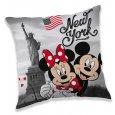 JERRY FABRICS Polštářek Mickey a Minnie New York Polyester, 40/40 cm